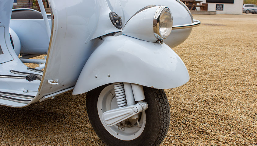 1955 Vespa 125n with Factory Sidecar - For Sale at The Classic Motor Hub