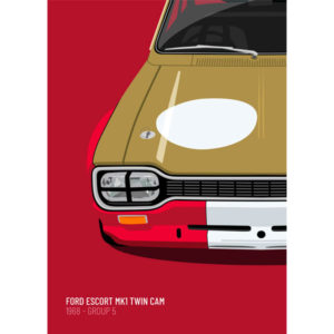 1968 Ford Escort Mk1 Twin Cam - Limited Edition Ford Escort Print from Motive Culture