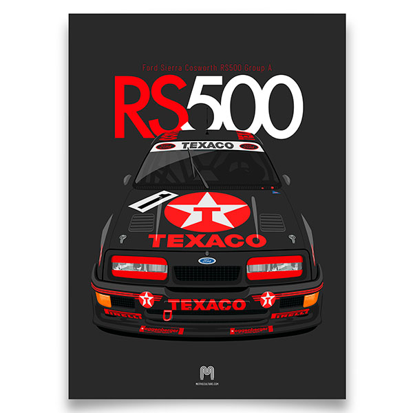 1987/88 Ford Sierra Cosworth RS500 - A3 Sierra Cosworth Print from Motive Culture