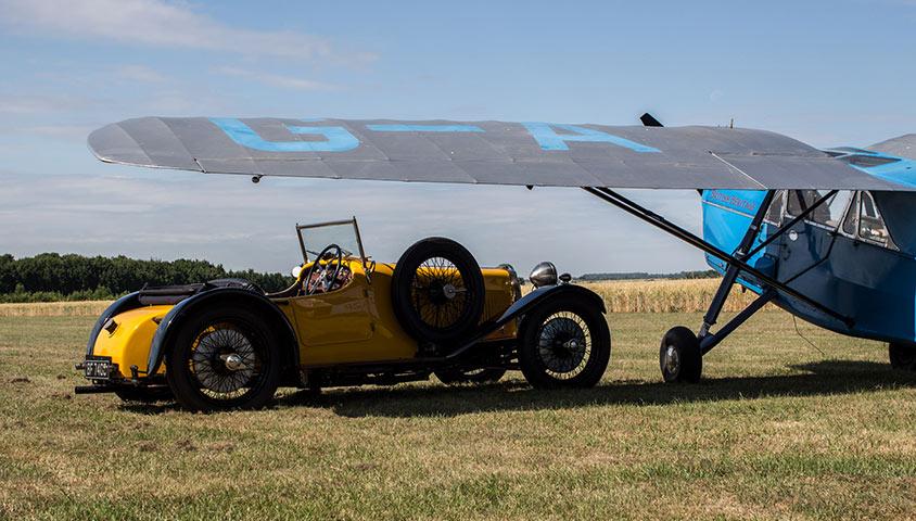 Reuniting the Maharaja of Patiala's de Havilland Puss Moth and Aston Martin S Type Sports Car