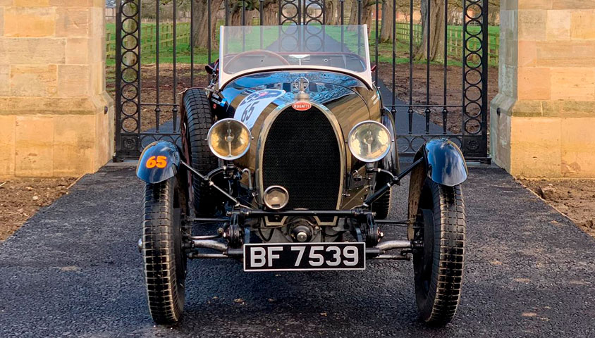 1927 Bugatti Type 40 at VSCC Brooklands Driving Tests 2019