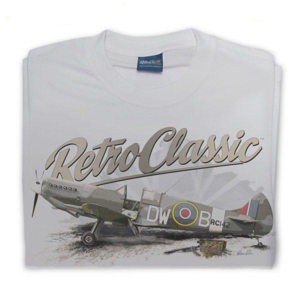 RetroClassic Supermarine Spitfire T Shirt buy at The Classic Motor Hub