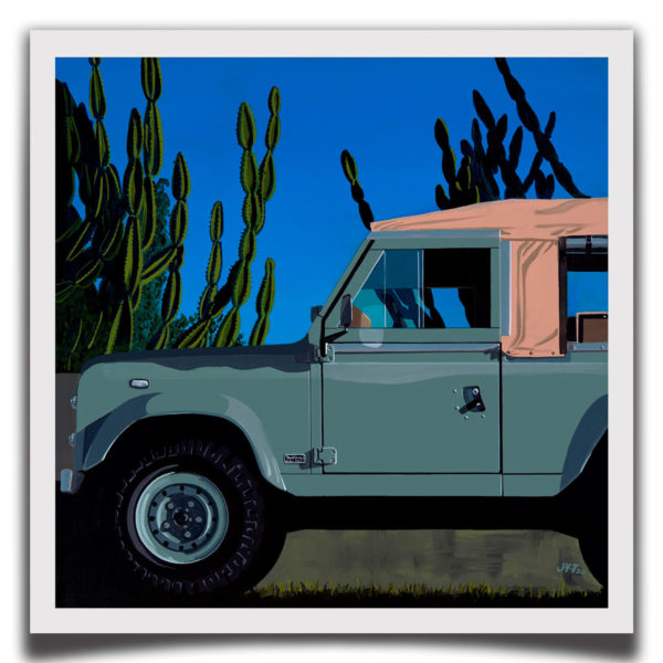 Cool 'N Vintage Land Rover Print - Limited Edition Print from JYT Bespoke Art