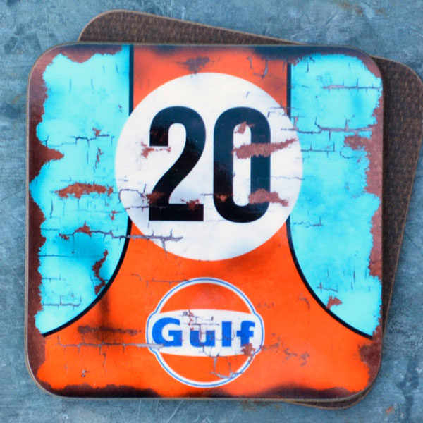 Vintage Style Gulf Oil Coaster
