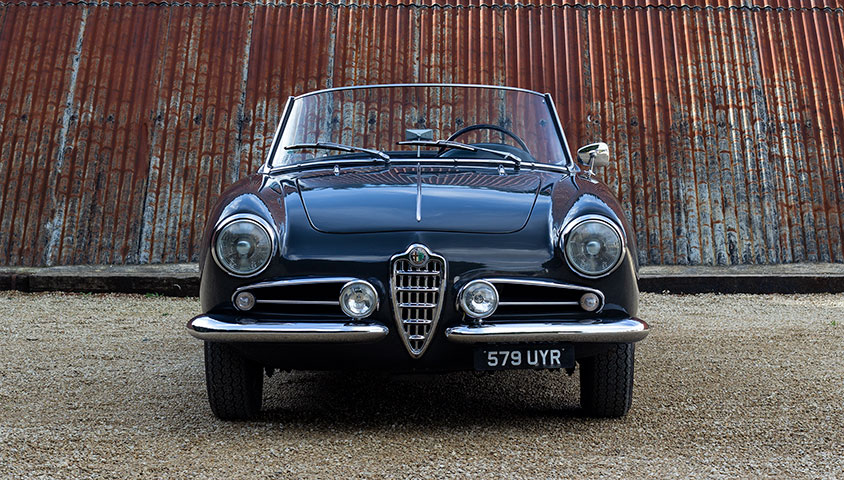 1956 Alfa Romeo Giulietta Spider For Sale at The Classic Motor Hub
