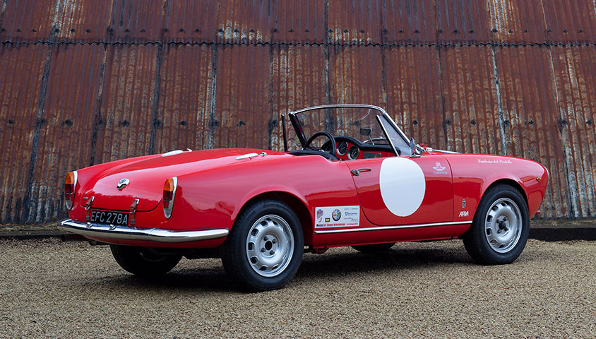 1963 Alfa Romeo Giulia Spider for sale at The Classic Motor Hub