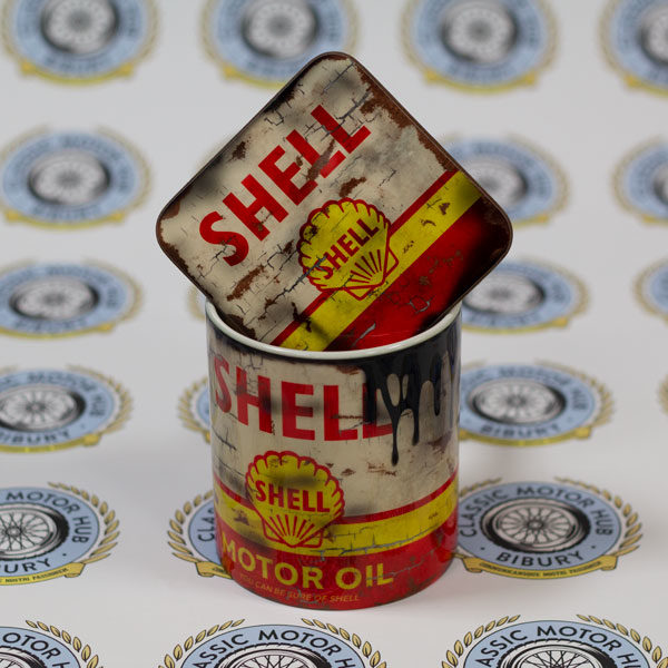 Bundle - Shell Oil Can Mug and Coaster