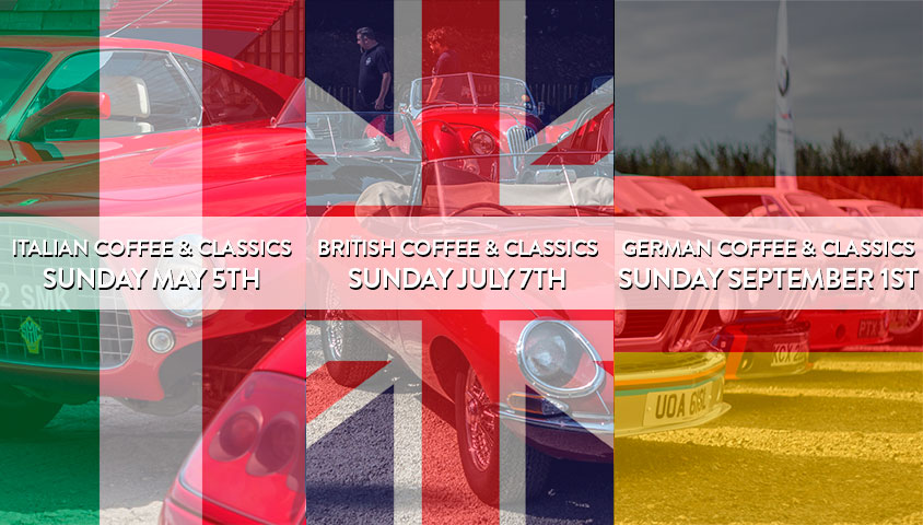 Italian, British and German Themed Motoring Events at The Classic Motor Hub in 2019