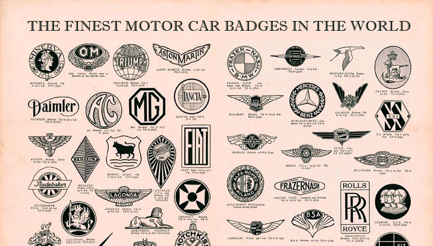 A Quick History of the Finest Motor Car Badges